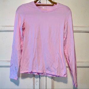 Pink GAP Stretch Long Sleeve Shirt